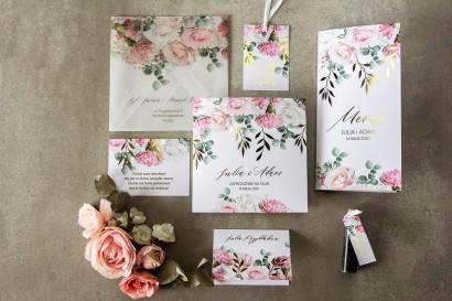 Zestaw próbny zaproszeń ślubnych z kolekcji Rubin nr 9