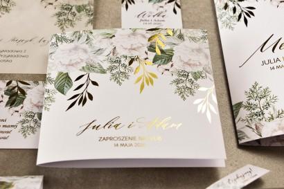 Próbne zaproszenie ślubne z kolekcji Rubin nr 6
