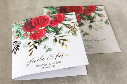 Próbne zaproszenie ślubne z kolekcji Rubin nr 8