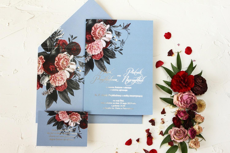 Zaproszenia ślubne w stylu Glamour z kolekcji Pastelowe