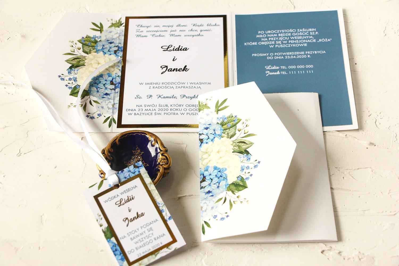 Niebanalne Zaproszenia Ślubne ze złoceniem z kolekcji Avril