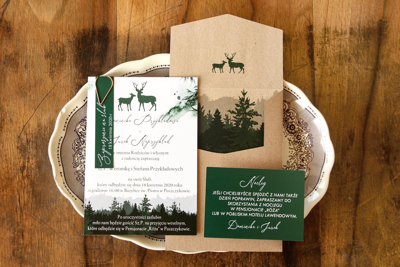 Ekologiczna koperta i eleganckie zaproszenia ślubne z kolekcji Delize