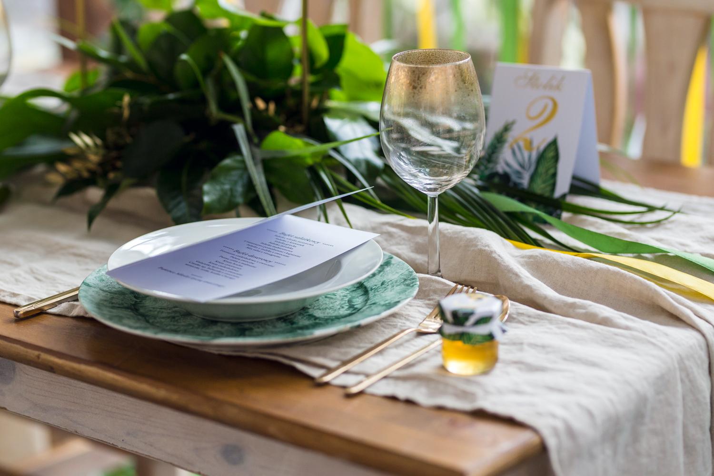 Menu weselne w stylu greenery - Sorento nr 12