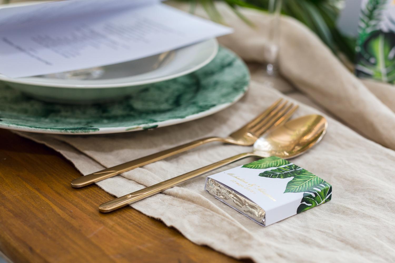 Czekoladki - podziękowania dla gości ze złoceniem w stylu Greenery - Sorento nr 12