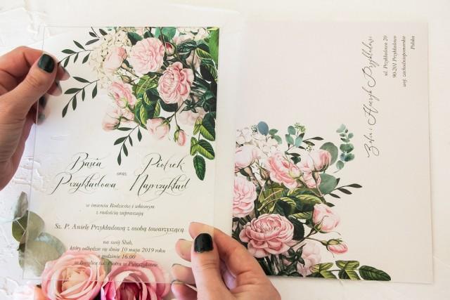 Zaproszenia Ślubne na szkle
