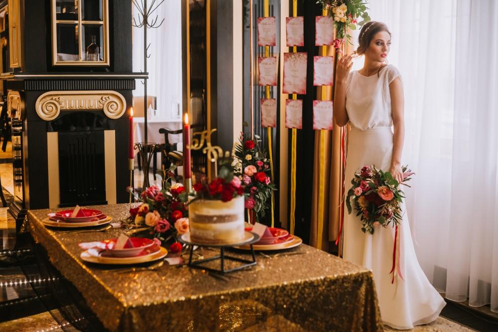 Sala Ślubna w stylu Glamour
