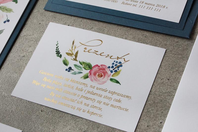 Amelia Weddingpl Cykade Zaproszenia Z Delikatnym Złoceniem